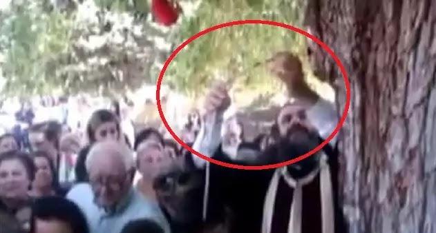 Έτσι Κοροϊδεύουνε τον Κόσμο:Τι είναι στ' Αλήθεια το «Θαυματουργό Αίμα» που Τρέχει από αυτό το Δέντρο στη Λάρισα;(video)