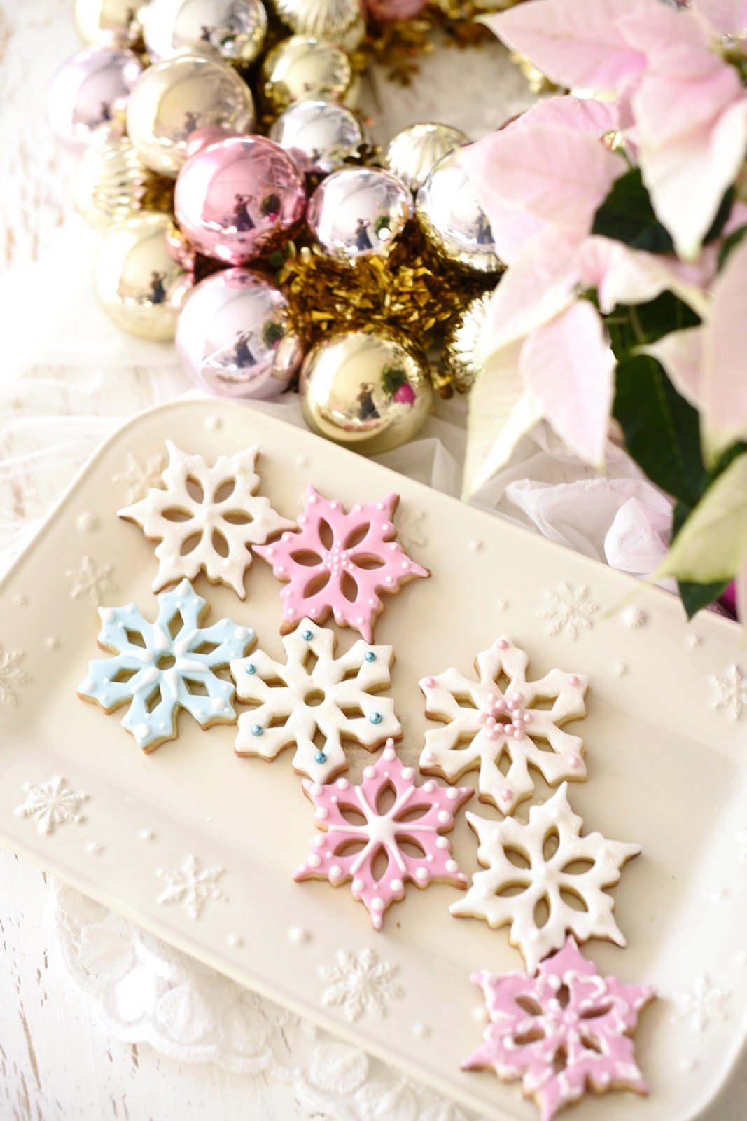 Kessy\'s Pink Sugar: Schneeflocken Kekse und Weihnachtsshop bei ...