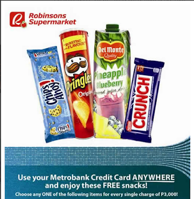 Metrobank Credit Card: Robinsons Supermarket Spend Anywhere 2015