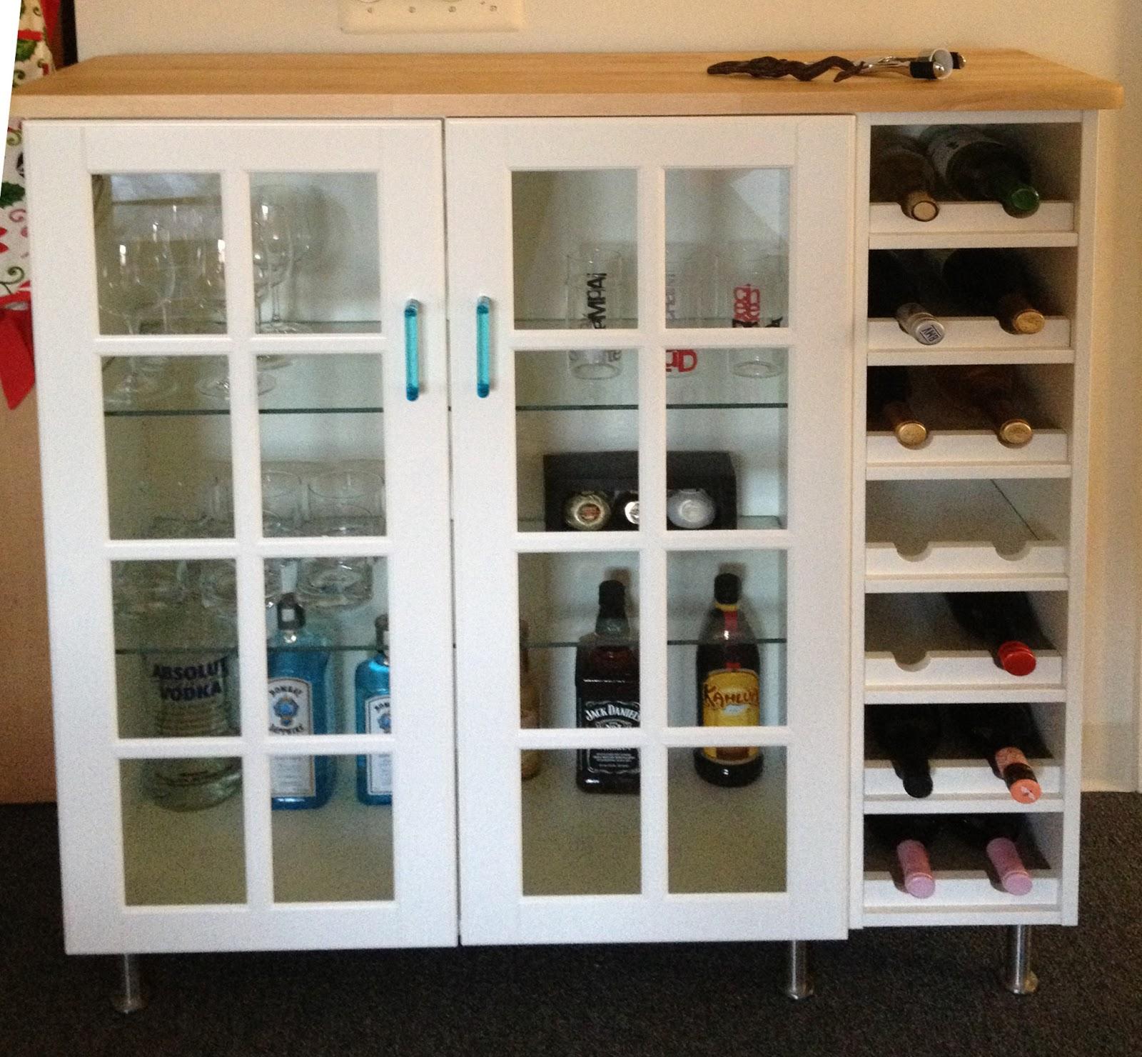 Bar cabinet ikea hack style for Bar cabinets ikea