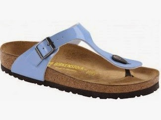 Sponsored Shoe of the Week: Birkenstock Giza Patent Lagoon Blue