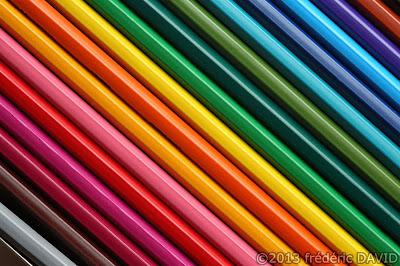 macro graphisme couleurs crayons