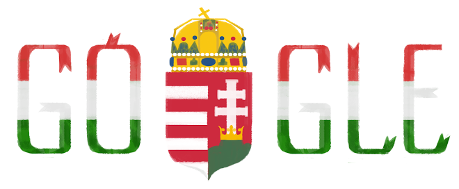 Hungary National Day 2015 Google Doodle