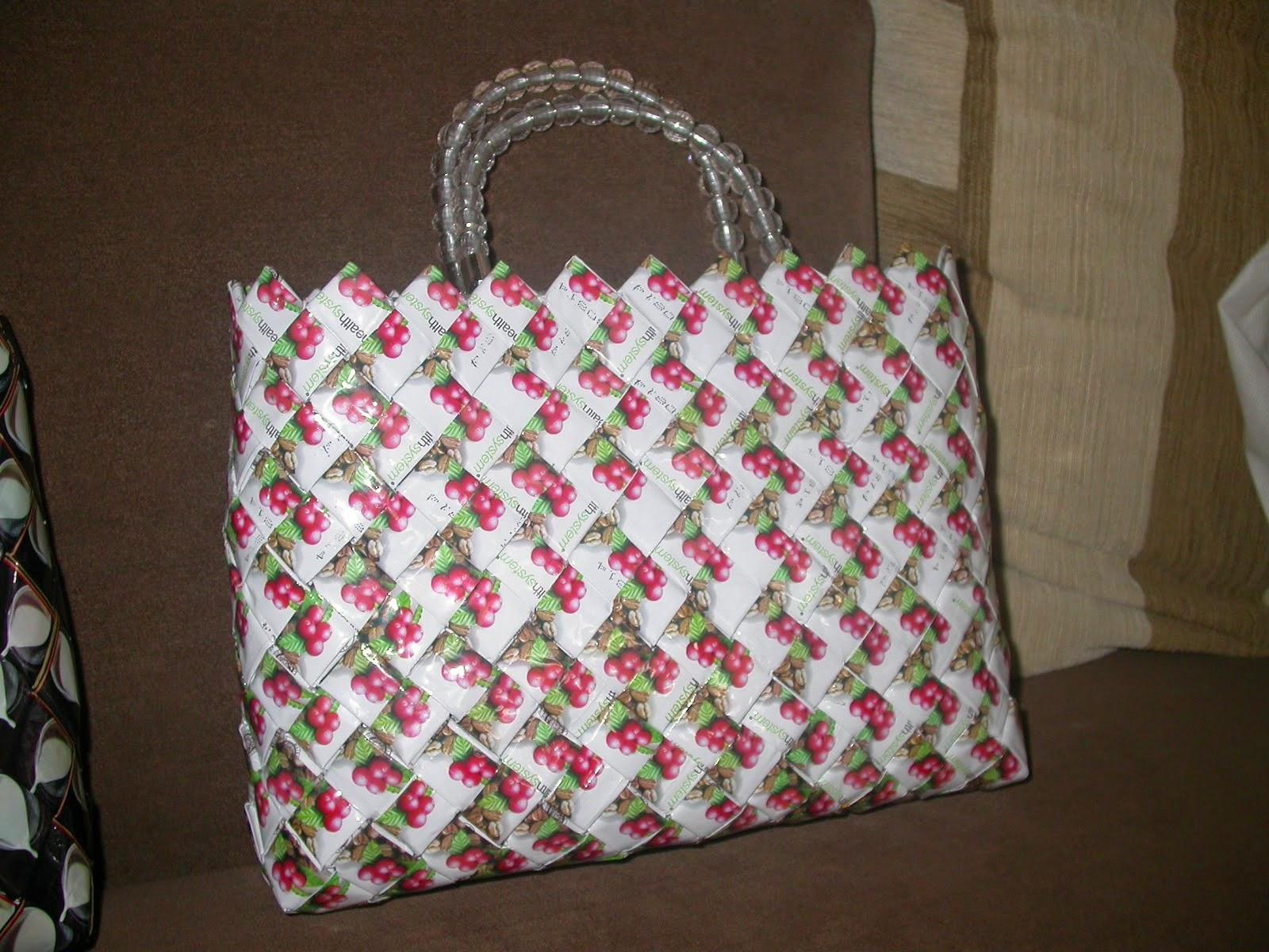 Kreatif Membuat Tas Plastik Cantik Dari Bungkus Kopi