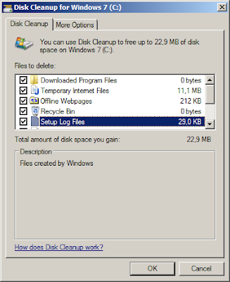 Disk Cleanup | Menghapus File Sampah di Windows 7