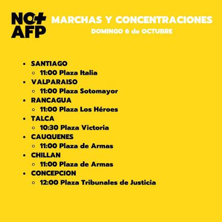 Domingo 6 de octubre: No más Afp.