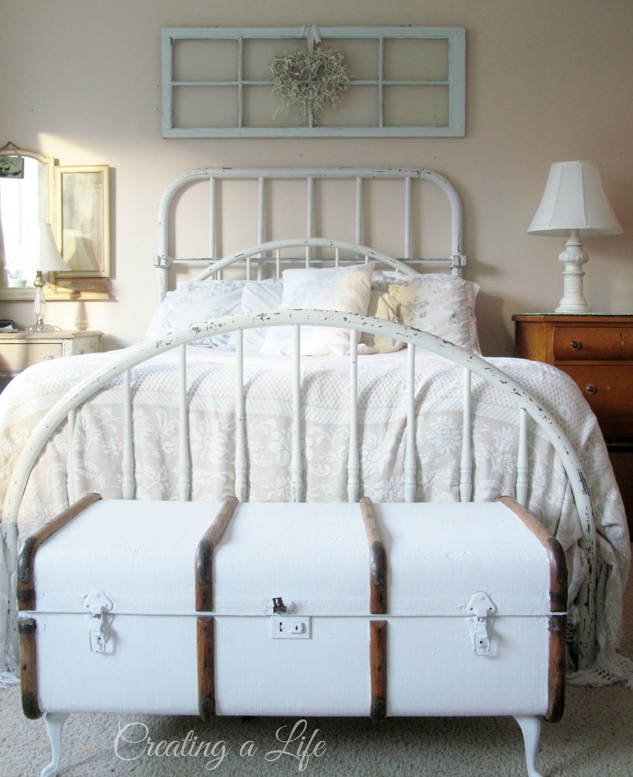 Antique iron bed queen - Antique Iron Bed Queen 45