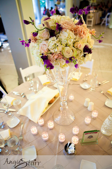 Tall Table Centerpieces - National Museum of Dance Wedding - Splendid Stems Floral Designs