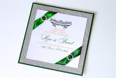 Embellished Paperie: Gorgeous Emerald Green and Silver Glitter ...