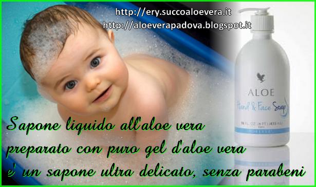 Aloe liquid soap sapone liquido senza parabeni