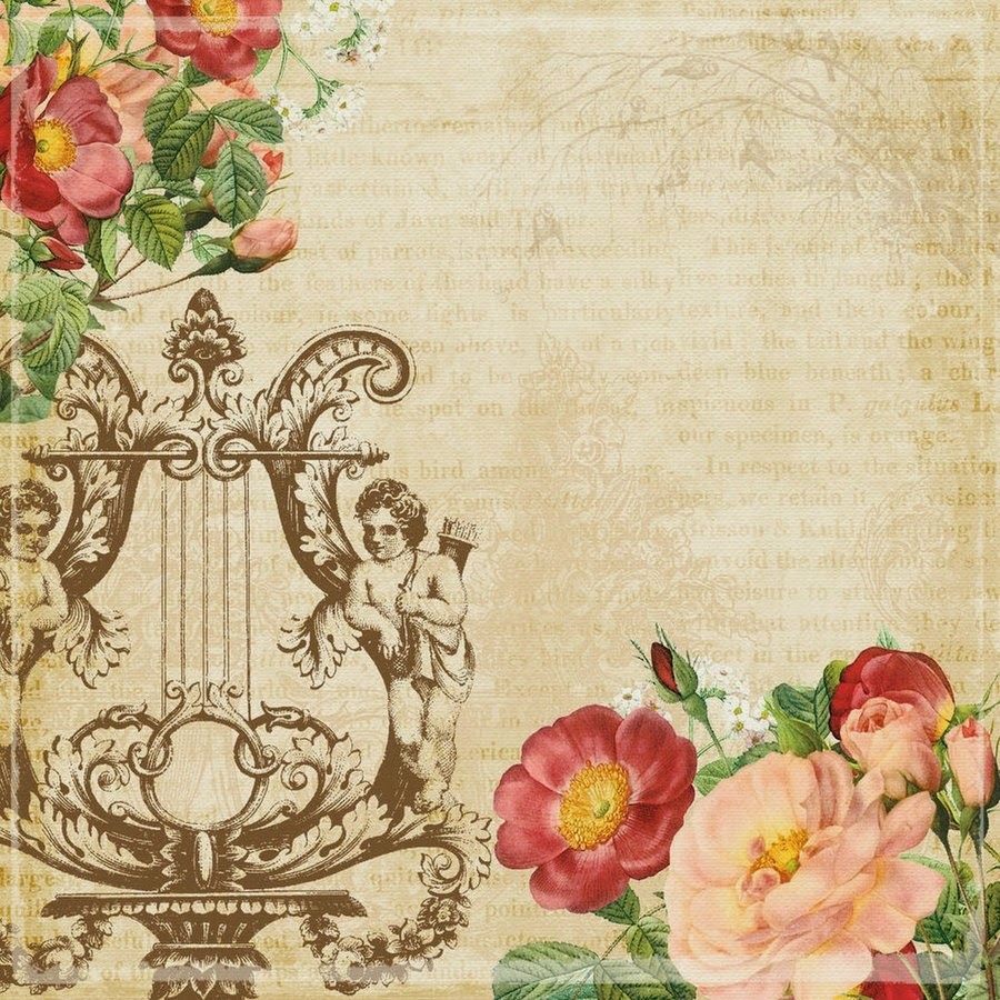 Amarna artesanato e imagens papel vintage para artesanato - Papel vintage pared ...