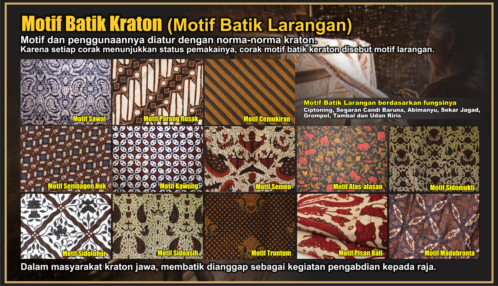 nusantaraku Kebermaknaan Batik Kraton Motif Batik Larangan