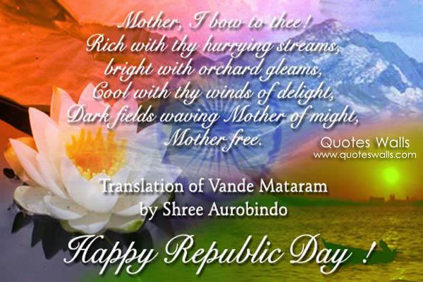 Madegems republic day greetings meaning of vande matram m4hsunfo Choice Image
