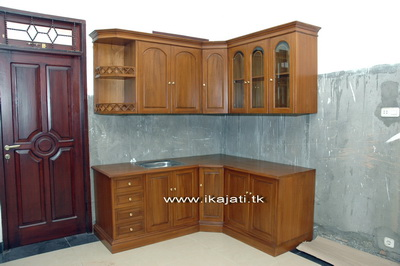 Ikajati furniture for Harga kitchen set jati