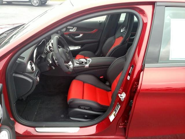 w205 c63 amg red interior