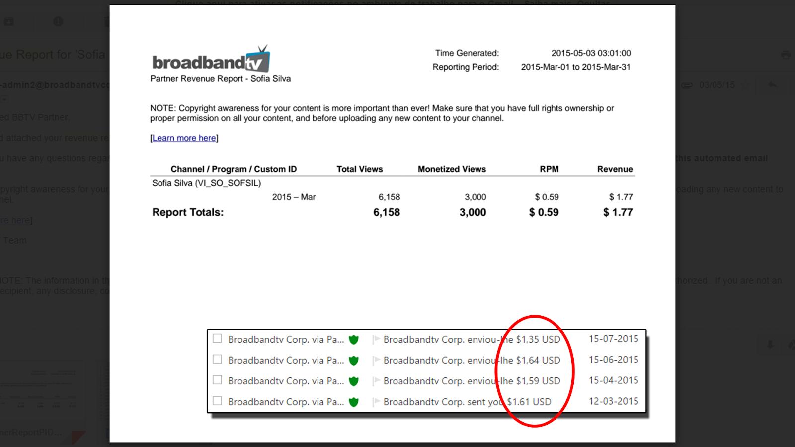 My Partner Revenue Report