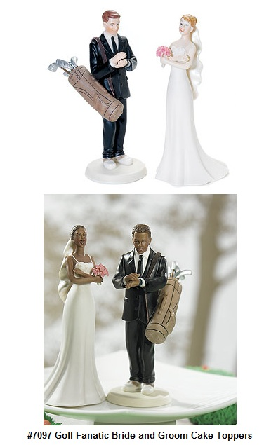 Golf Fanatic Bride and Groom