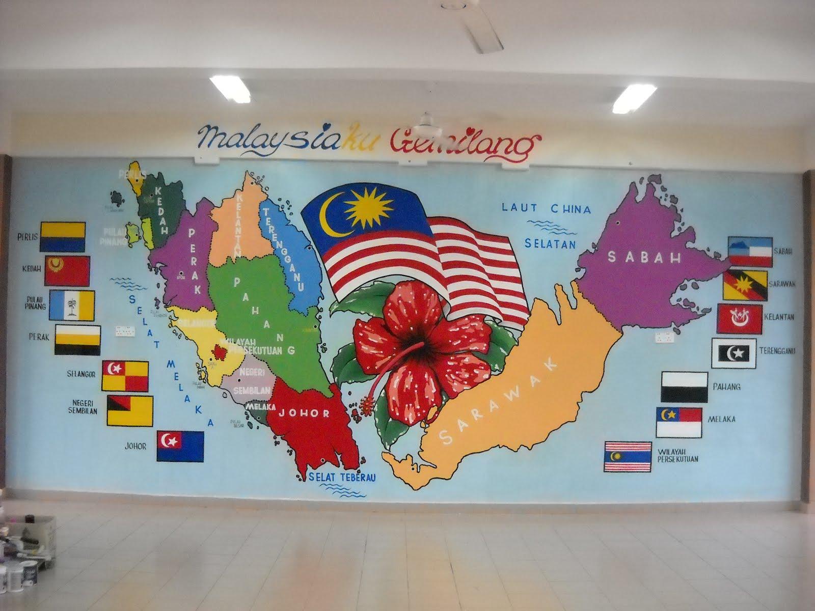 Pelukis mural shah alam peta semenanjung malaysia for Mural sekolah