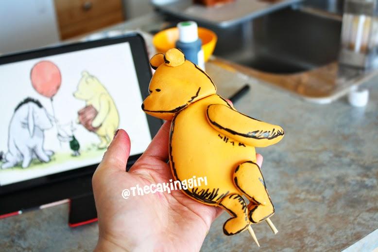 gumpaste winnie the pooh figurine tutorial