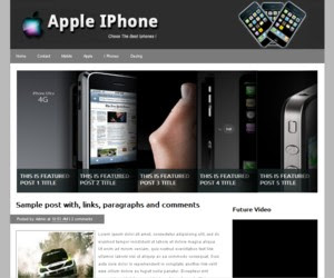 Apple iPhone Blogger Template