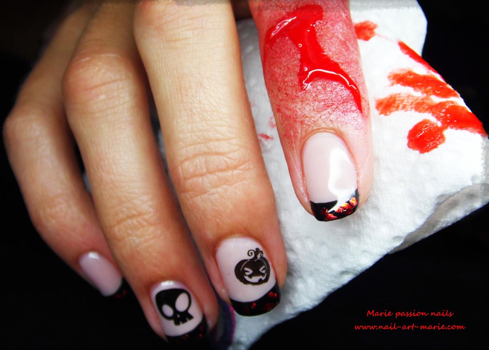 Nail Art d' Halloween en semi-permanent4