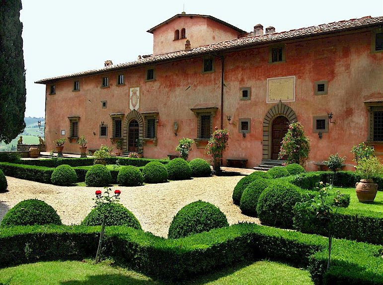 The gardens of the tuscan villas for Gardens and villa