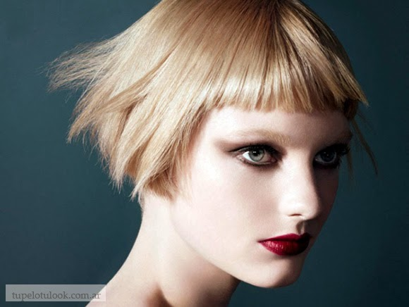 flequillo corto recto peinados 2015-