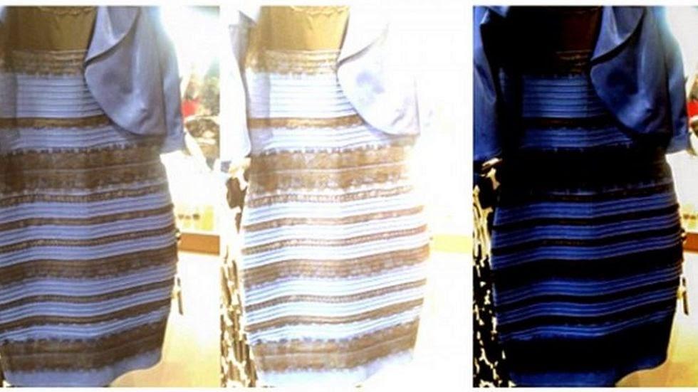 Blue black dress trick