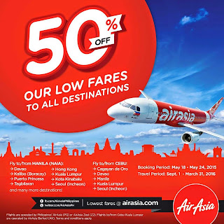 AirAsia Taking 50% Off Its Lowest Online Fares To All Destinations