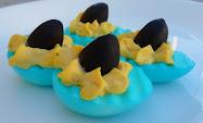 deviled eggs for shark week!