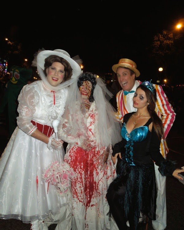 Mary Poppins costumes West Hollywood Halloween Carnaval