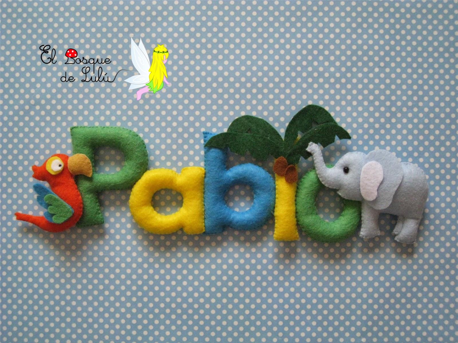 nombre-fieltro-decoracion-infantil-regalo-nacimiento-bebe-Pablo-animales