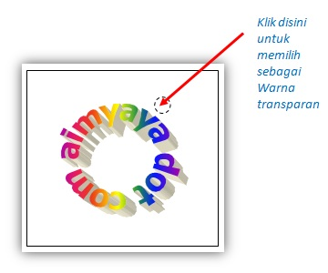 gambar contoh memilih warna transparan gambar di Microsoft Word