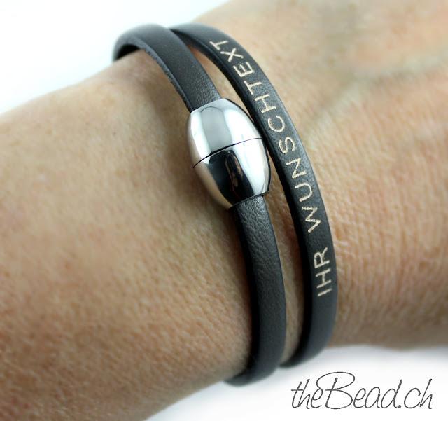 tolles Armband und Geschenk mit persoenlicher Gravur