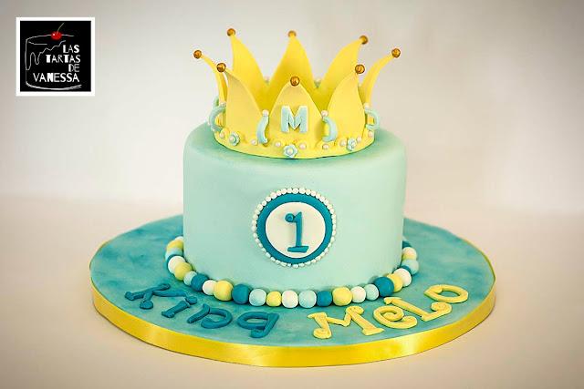 tarta de fondant príncipe azul