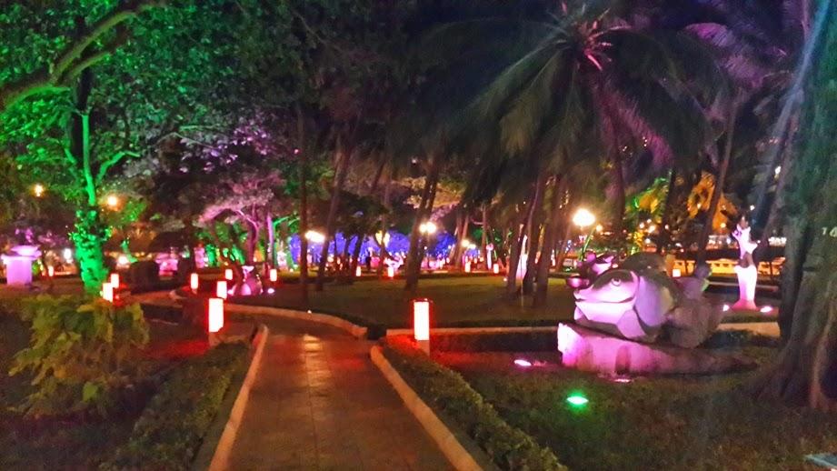 chiếu sáng nghệ thuật bãi trước công viên vũng tàu