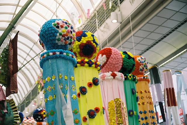 pop and vivid tanabata decorations