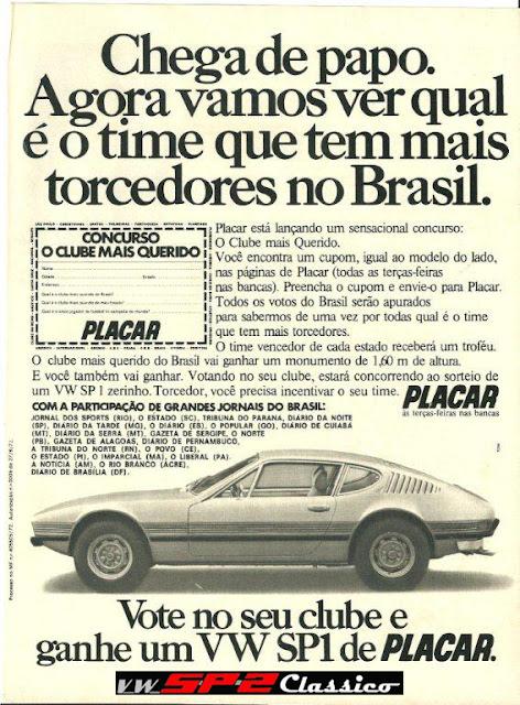 Promoção Placar 1973 - VW SP1