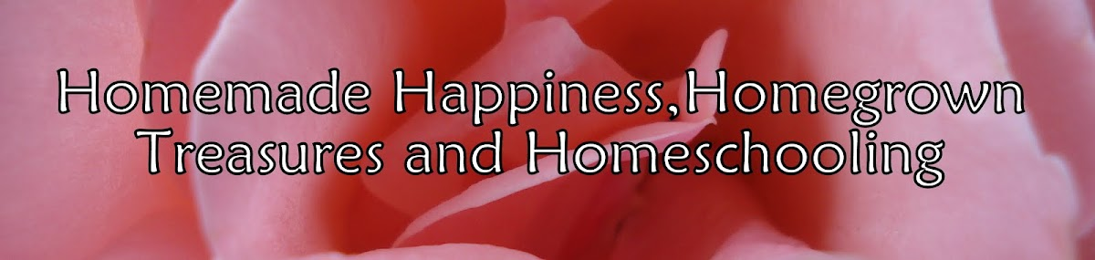 Homemade Happiness, Homegrown Treasures and Homeschooling
