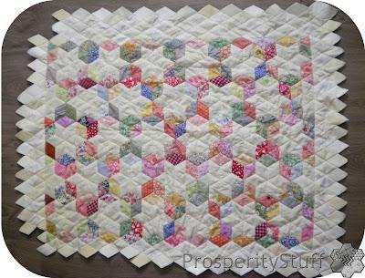 ProsperityStuff Quilts: EPP diamond stars quilt