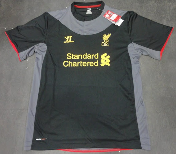 Jersey Liverpool Away Hitam 2012/2013 Grade Ori