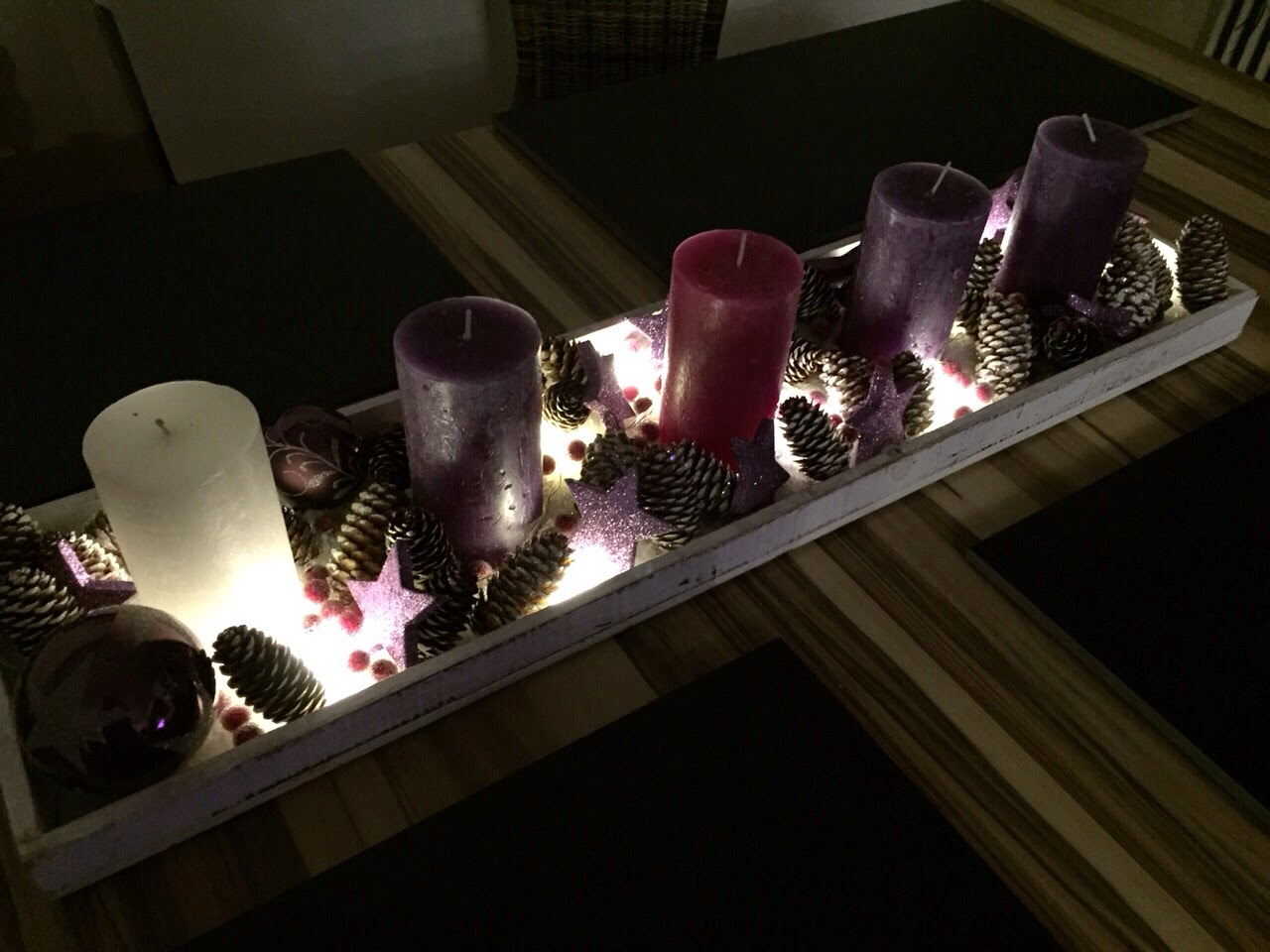 Kerzen irischer adventskranz