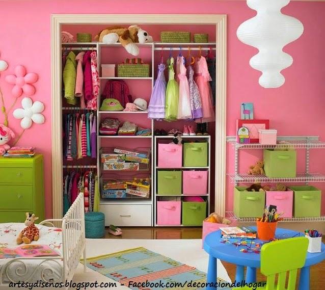 CLOSET PARA NIÑAS - GIRLS by artesydisenos.blogspot.com