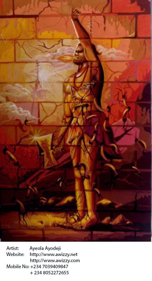 renown nigerian painter ayeola ayodeji abiodun the african art painting by best artist in nigeria