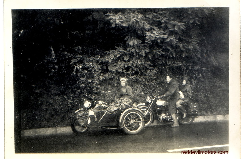 norton sidecar combination fifties touring