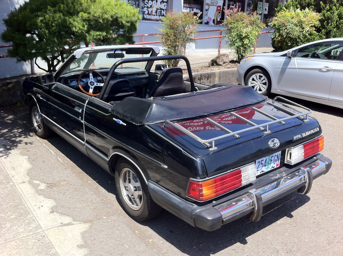 old parked cars 1983 subaru gl10 convertible by matrix. Black Bedroom Furniture Sets. Home Design Ideas