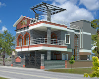 Diseño de casa 3d de 3 plantas