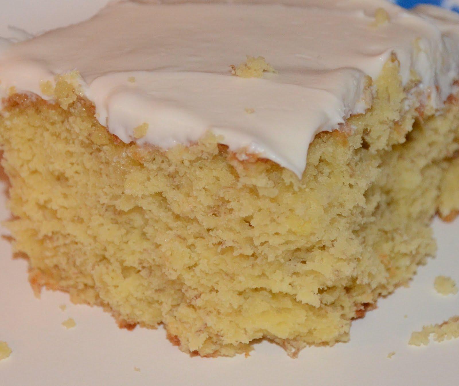 Banana Cake Recipe Yellow Cake Mix Sour Cream