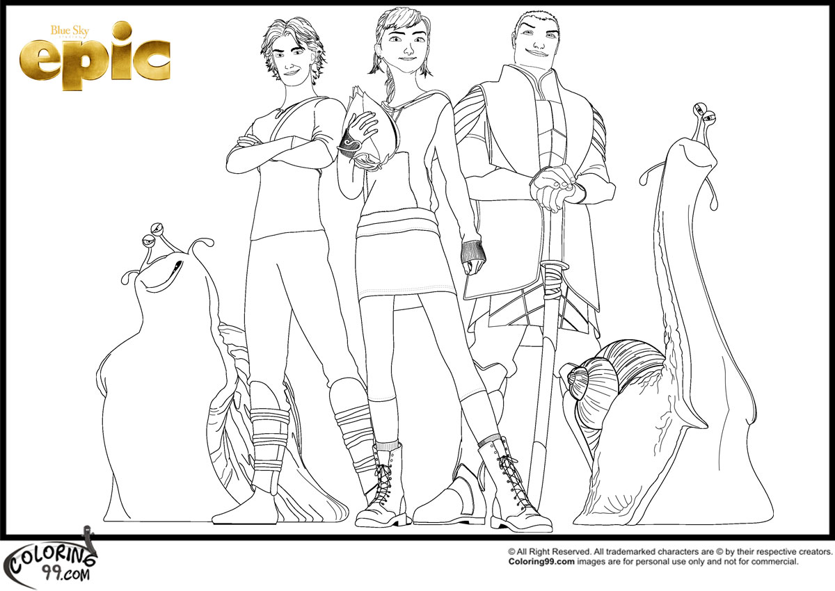 Epic Movie Coloring Pages Team