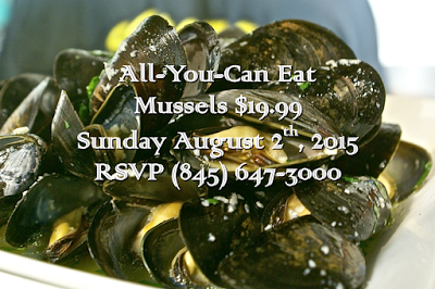All you can Eat Mussels in the Aroma Thyme Garden | Sunday August 2nd 2015 at 1 pm - 5 pm
